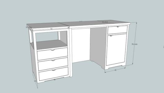 escritorio   con mesilla