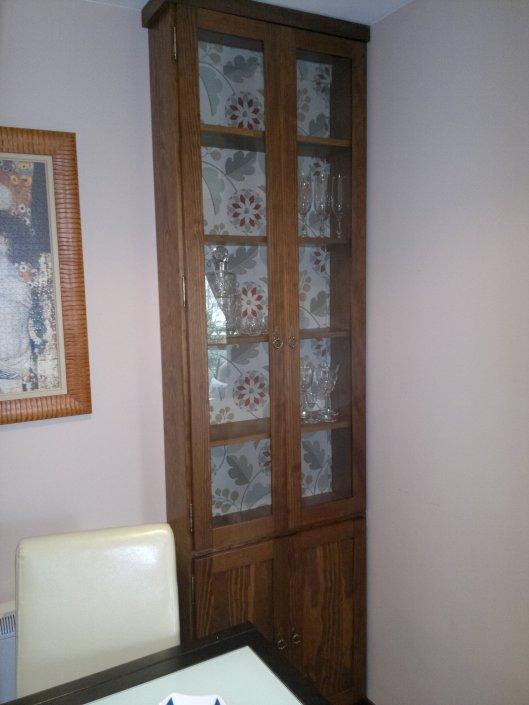 Vitrina madera y cristal