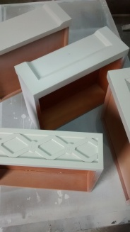 Cajones con imprimación