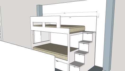 cama nido  armario, escalera, escritorio (7)
