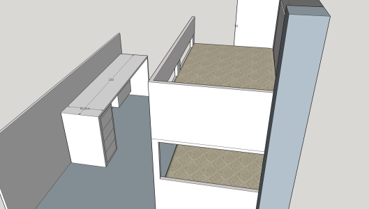 cama nido  armario, escalera, escritorio (8)