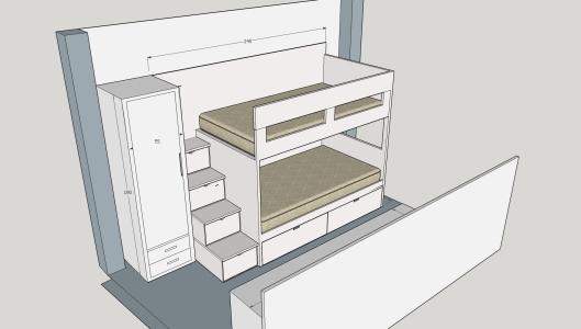 cama nido  armario, escalera, escritorio (9)