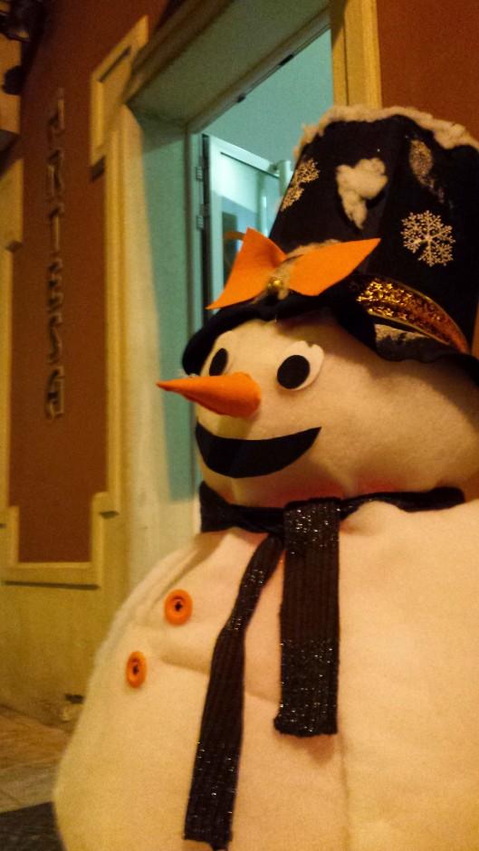 Muñeco de nieve, muebles artesa