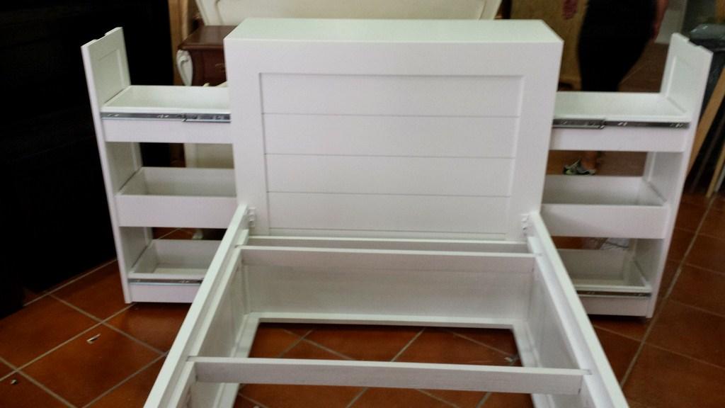 Cama nido con dos cajones en el cabezal muebles artesa for Cama nido con dos camas y cajones