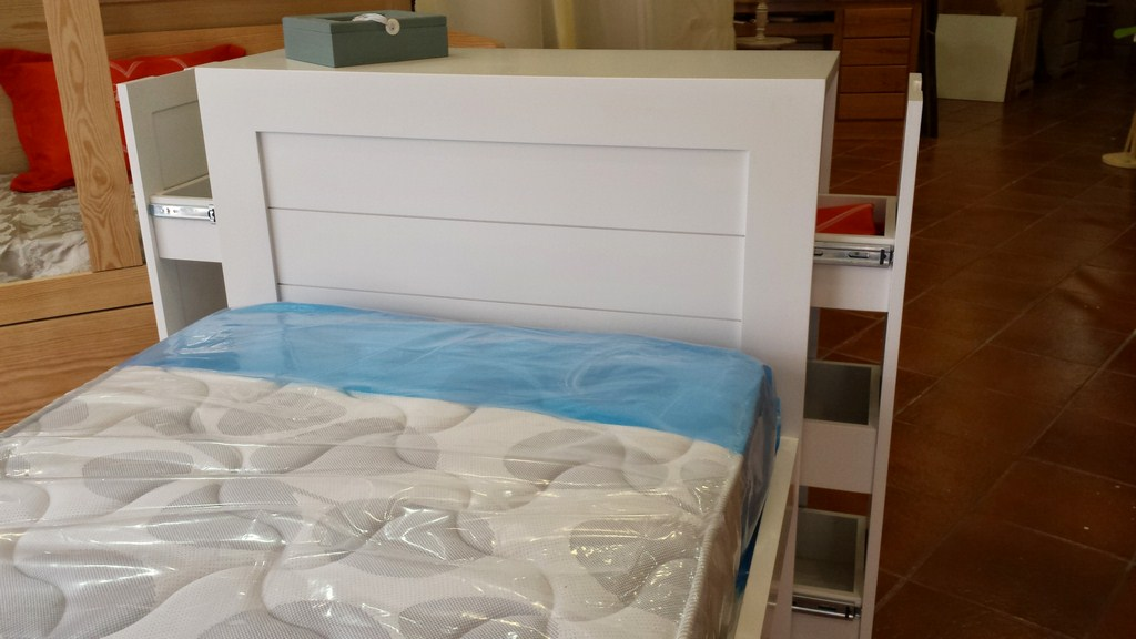 Cama nido con dos cajones en el cabezal muebles artesa - Cabezal cama infantil ...