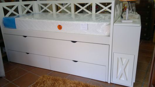cama nido triple con baúl