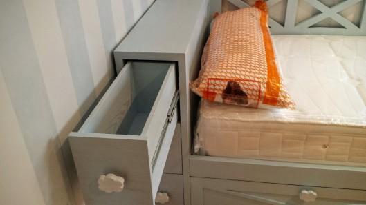cama infantil cabezal con cajones