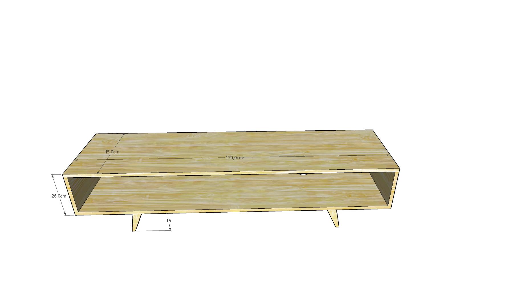 mesa tv castaño