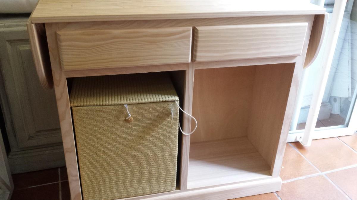 Mueble de plancha en madera de pino muebles artesa for Mueble para planchar ikea