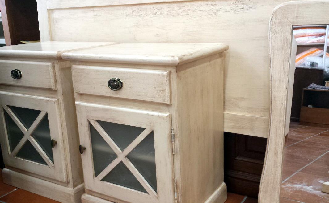 Muebles blanco roto envejecido 4 muebles artesa - Muebles de salon en blanco roto ...