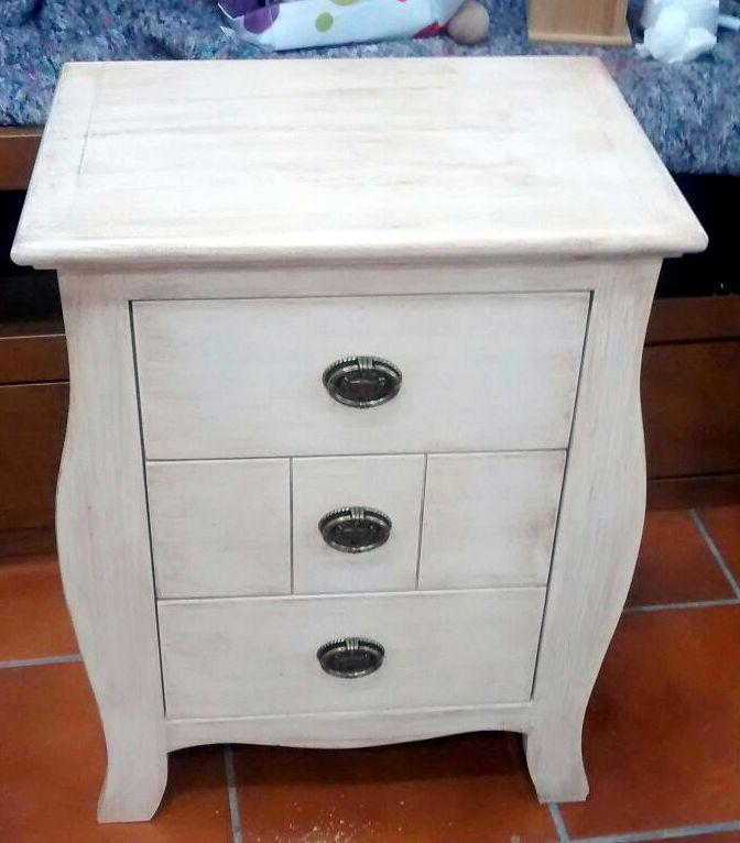 Muebles blanco roto envejecido 6 muebles artesa - Muebles de salon en blanco roto ...