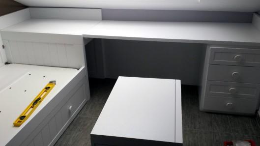 Cama nido con escritorio muebles artesa for Cama nido escritorio incorporado