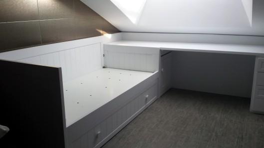 Ba l cabecero muebles artesa - Cama nido con escritorio ...